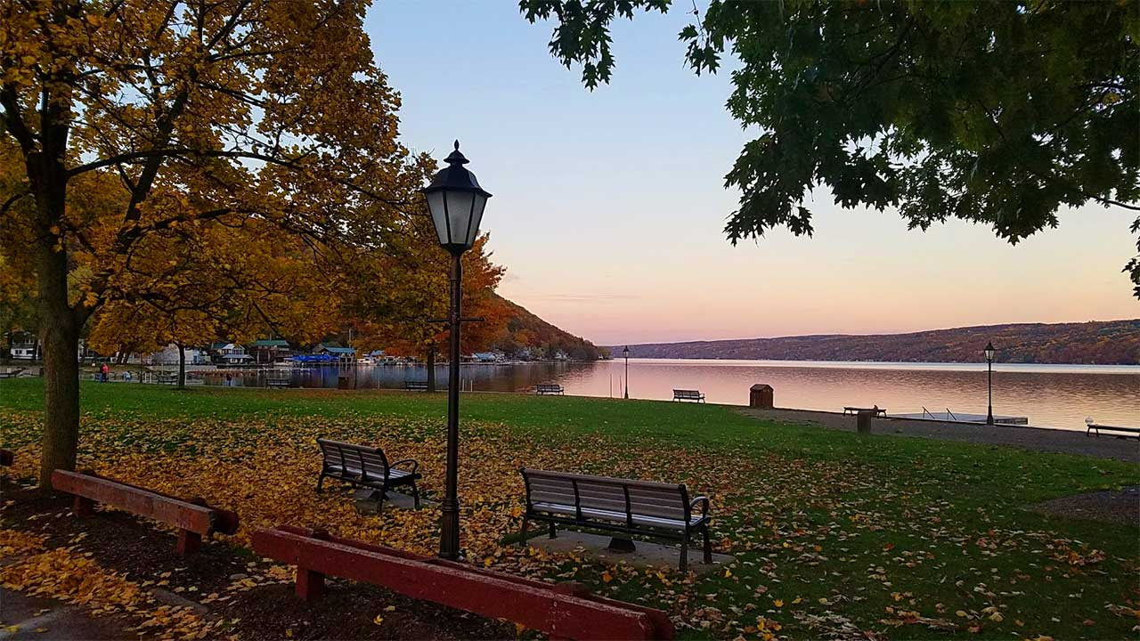 Depot Park in Hammondsport